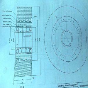 Thiết kế và chế tạo bánh xe nâng PU-Nilon-Cao su theo yêu cầu