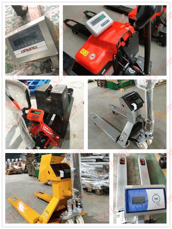 Một vài mẫu xe nâng hàng lắp đồng hồ đo khối lượng đang có trên thị trường