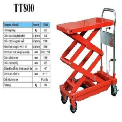 Xe nâng mặt bàn 800kg hiệu Meditek TT800 giá rẻ
