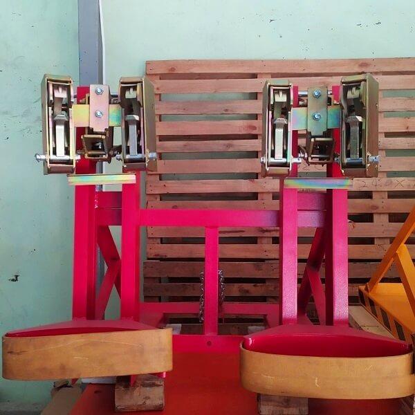 Bộ kẹp phuy đôi 4 mỏ kẹp (tải 1 tấn) hàng có sẵn