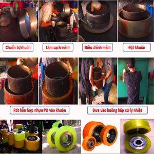 Quy trình bọc bánh xe nâng điện thủ công