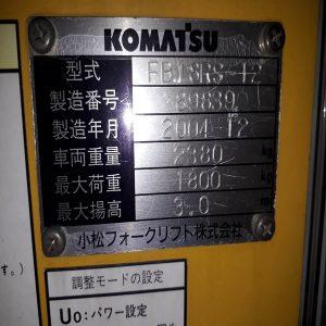 Xe nâng điện cũ giá rẻ 1,8 tấn lên cao 3m Komatsu