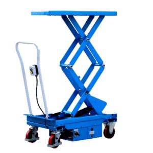 Xe nâng mặt bàn điện 800kg cao 1,3m khung đôi