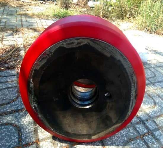 Bọc PU bánh xe nâng linde - Komatsu - TCM - Nissan