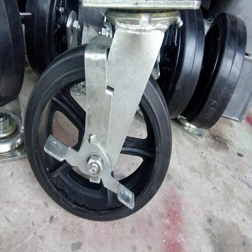 Bánh xe đẩy cao su phi 180mm, bánh xe đẩy giá rẻ