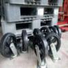 Đặt mua bánh xe đẩy phi 180mm xoay có khóa chất lượng Đài Loan