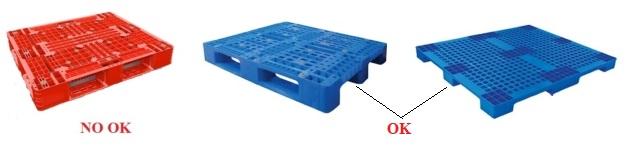 Pallet nhựa 1 măt không có thanh ngang