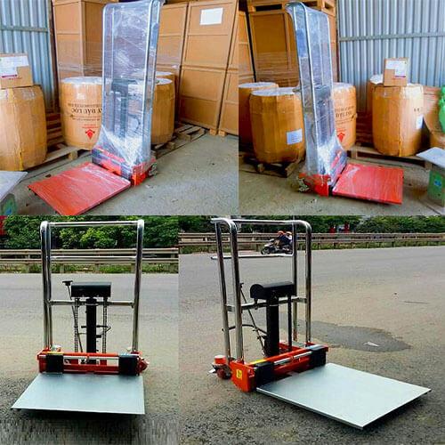 Xe nâng tay cao mini 400kg có sẵn tại Hưng Việt