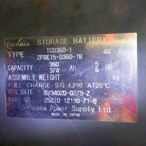 Mạc ắc quy của xe nâng điện cũ Toyota