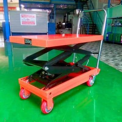 Xe nâng mặt bàn 350kg cao 1,5m đạp chân nhẹ nhàng