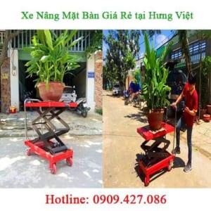 Báo giá xe nâng mặt bàn tại Hưng Việt