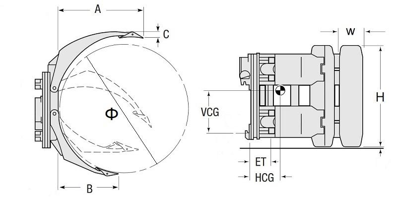 Thông số kích thước của 10 model bộ kẹp cuộn giấy giá rẻ
