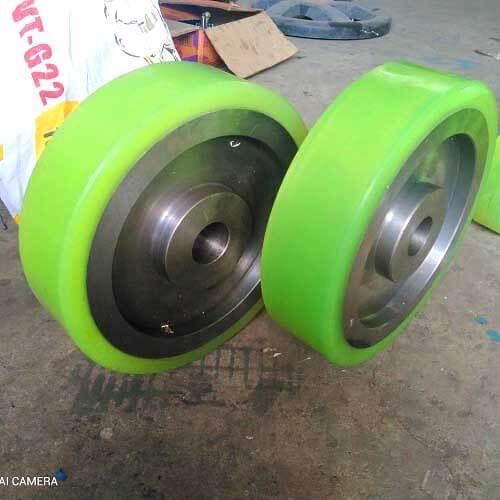 Bánh xe lõi thép đặc bọc PU chịu tải 1 tấn có sẵn tại Hưng Việt