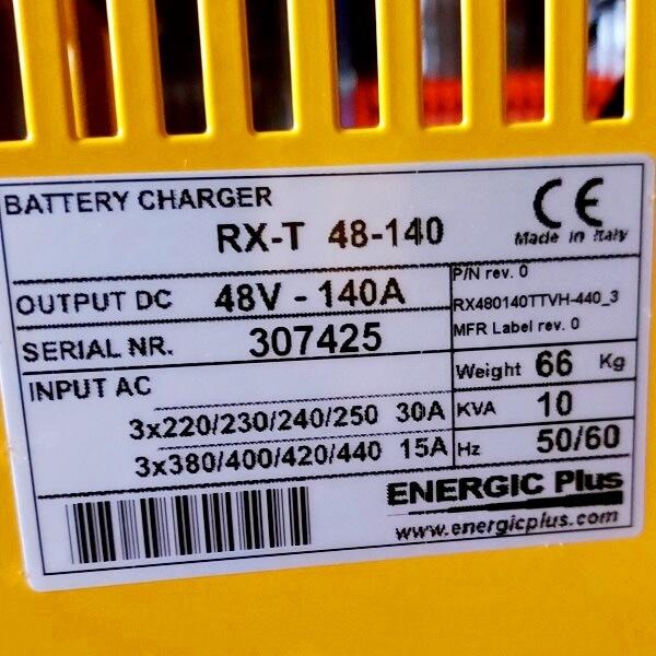 Tem chính hãng của máy sạc bình xe nâng điện 48V