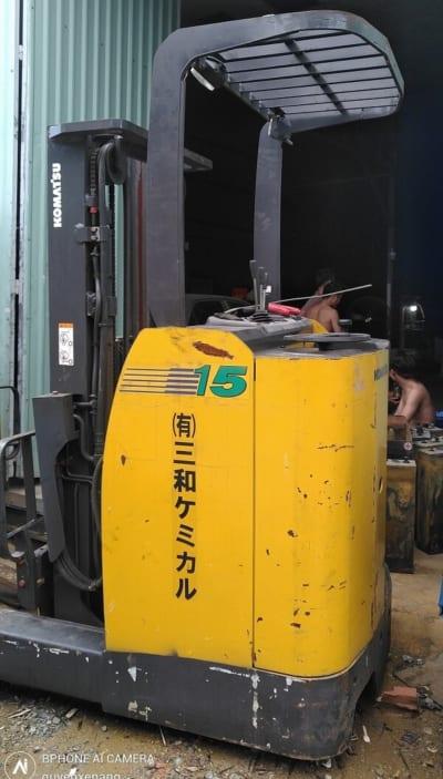 Xe nâng điện cũ Komatsu 4m tải 1,5 tấn