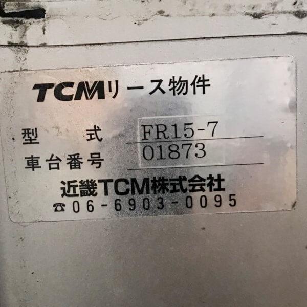 Tem chính hãng xe nâng đứng lái dùng điện 1,5 tấn hàng Nhật cũ TCM