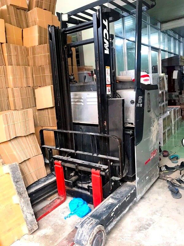 Xe nâng điện cũ 1,5 tấn TCM, Toyota, Komatsu luôn có sẵn tại Hưng Việt