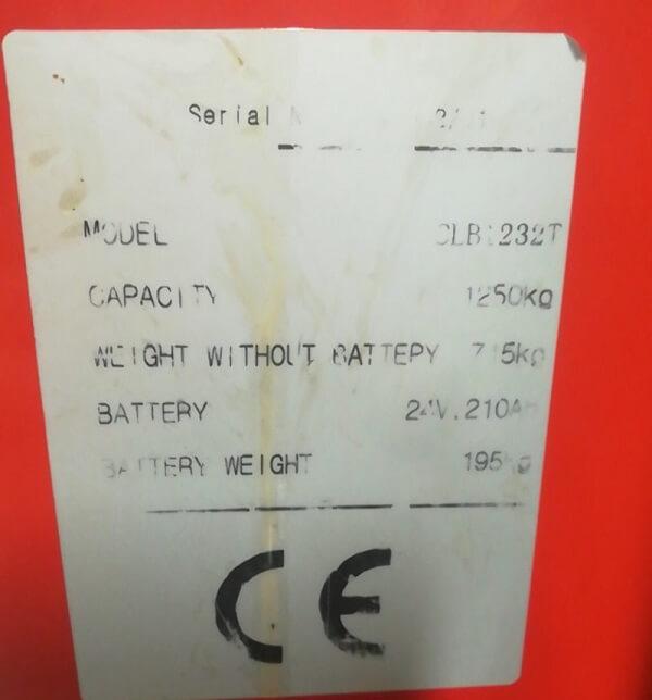 Một vài thông số kỹ thuật cơ bản của xe nâng chạy điện BTB
