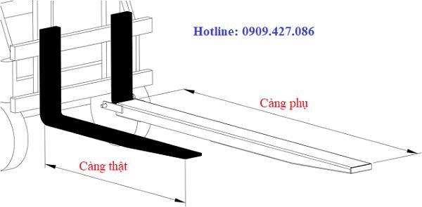 Tỷ lệ 0.6 là phù hợp nhất giữa chiều dài 2 loại càng
